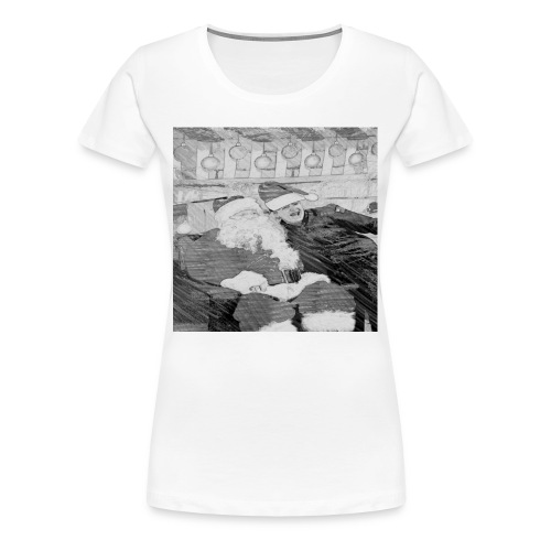 Tj with santa - Women's Premium T-Shirt