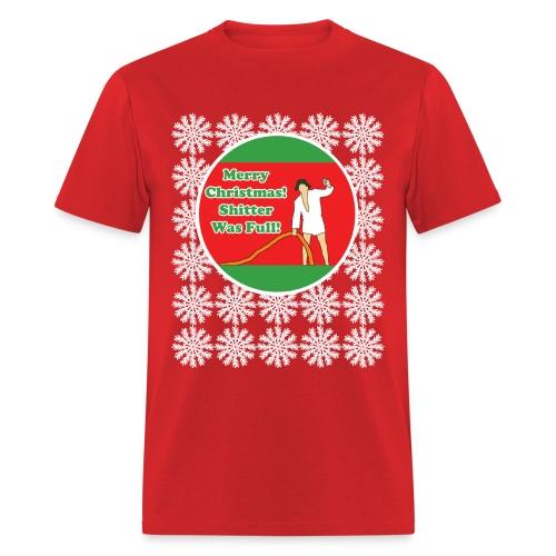 Vacation Shitter w/Snowflakes - Men's T-Shirt