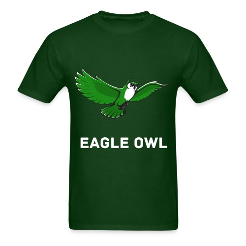 Green Owl Flying Mens T-Shirt - Men's T-Shirt