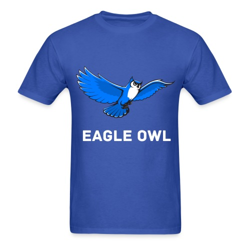 Blue Owl Flying Mens T-Shirt - Men's T-Shirt