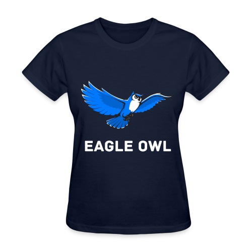 Blue Owl Flying Womens T-Shirt - Women's T-Shirt