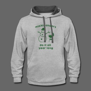 Michiganders do it all year long - Contrast Hoodie
