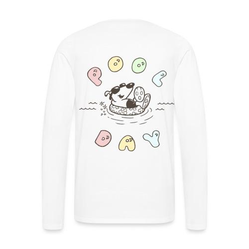lucky cotton treat 4 [front y back] - Men's Premium Long Sleeve T-Shirt