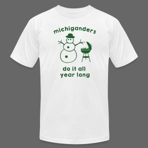 Michiganders do it all year long - Men's T-Shirt by American Apparel