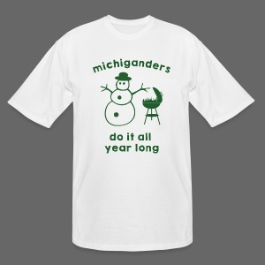 Michiganders do it all year long - Men's Tall T-Shirt