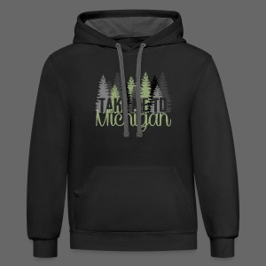 Take Me To Michigan - Contrast Hoodie