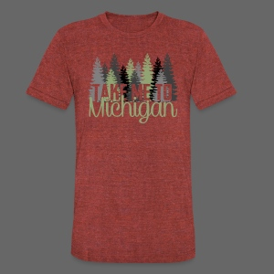 Take Me To Michigan - Unisex Tri-Blend T-Shirt by American Apparel