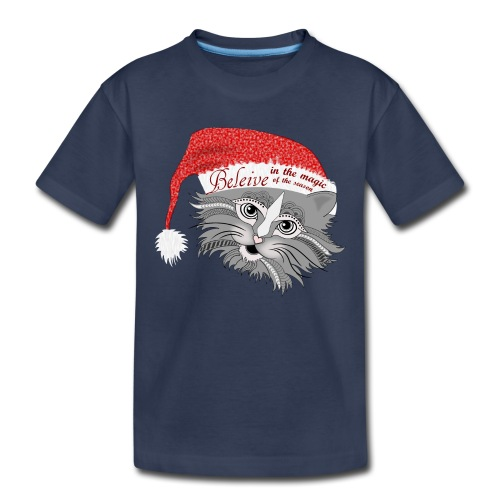 Christmas Kitty Kids Premium T-Shirt from South Seas Tees - Toddler Premium T-Shirt