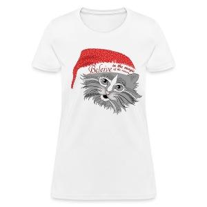 Christmas Kitty Women's T-Shirt from South Seas Tees - Women's T-Shirt