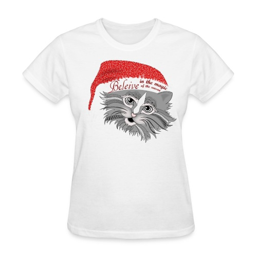 Christmas Kitty Women's T-Shirt from South Seas Tees - Women's T-Shirt