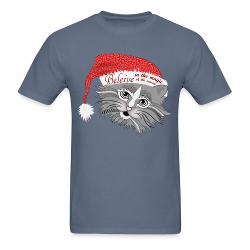 Christmas Kitty Men's T-Shirt from South Seas Tees - Men's T-Shirt