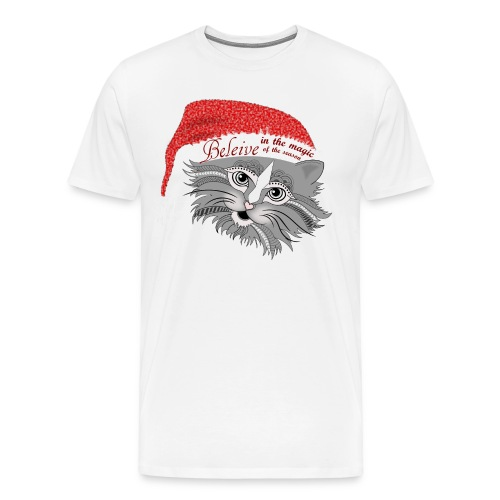 Christmas Kitty Men's Premium T-Shirt from South Seas Tees - Men's Premium T-Shirt