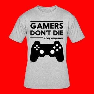 GAMERS DONT DIE GUMMIGAMING T-SHIRT - Men's 50/50 T-Shirt