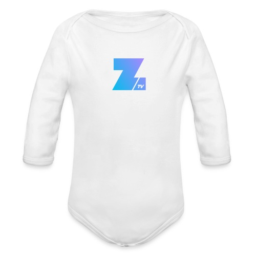 342 : white - Organic Long Sleeve Baby Bodysuit