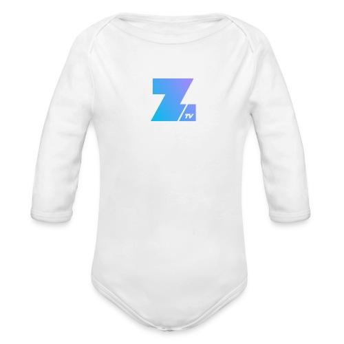 342 : white - Organic Long Sleeve Baby Bodysuit