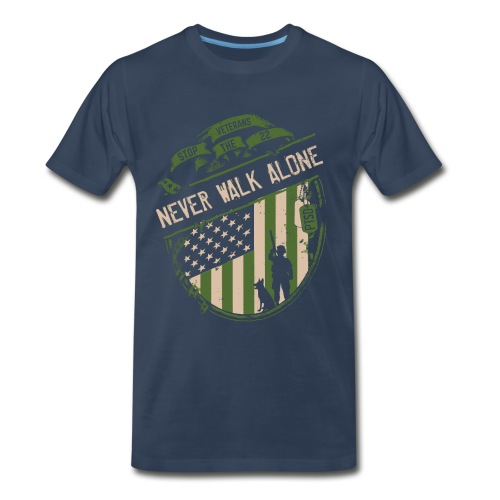 Mens Never Walk Alone Tee - Men's Premium T-Shirt