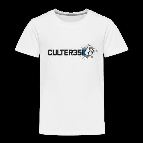 Toddler's Black Culter35 Logo T-Shirt - Toddler Premium T-Shirt