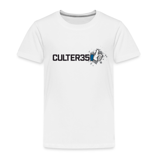 Toddler's Black Culter35 Logo T-Shirt - Toddler Premium T-Shirt