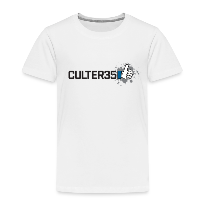 Toddler's Black Culter35 Logo T-Shirt