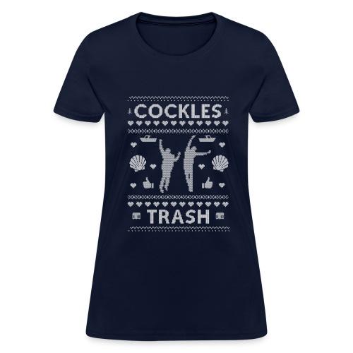 Cockles Trash XMAS Sweater White WOMEN'S - Women's T-Shirt