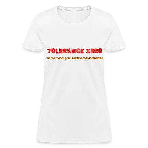 T-shirt femme Zéro alcool - T-shirt pour femmes