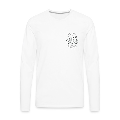 White mountain tee - Men's Premium Long Sleeve T-Shirt
