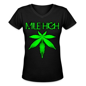 Mile High - Women's V-Neck T-Shirt