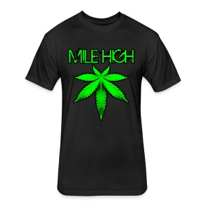 Mile High - Fitted Cotton/Poly T-Shirt by Next Level