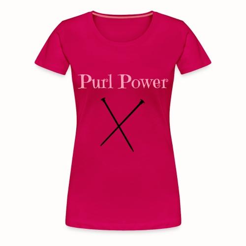 Purl Power womens magenta tee - Women's Premium T-Shirt