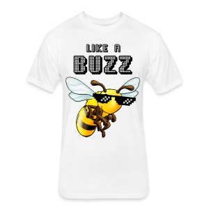 Like a Buzz - Fitted Cotton/Poly T-Shirt by Next Level