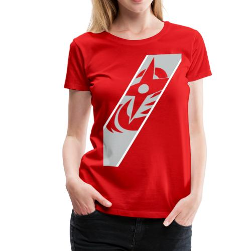silver red - Women's Premium T-Shirt