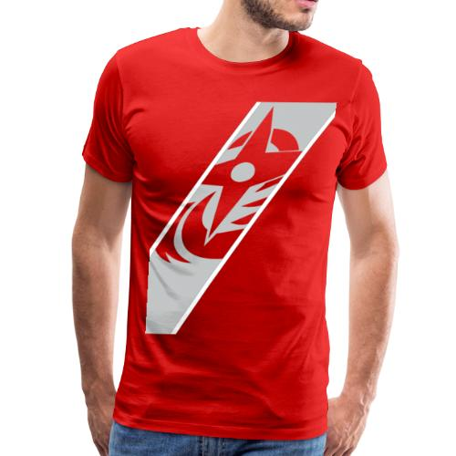 silver red - Men's Premium T-Shirt