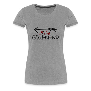 girlfriend typo arrow  Women's Premium T-Shirt - Women's Premium T-Shirt