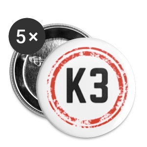 Large Kag3 logo Buttons : white - Large Buttons