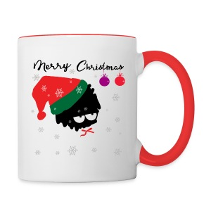 merry Xmas Santa  Contrast Coffee Mug - Contrast Coffee Mug