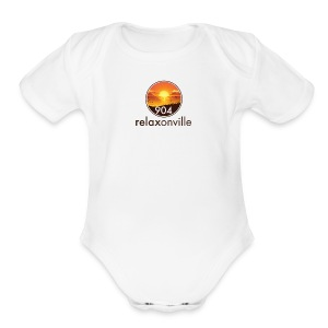 Baby Short Sleeve One Piece Sunset  - Short Sleeve Baby Bodysuit