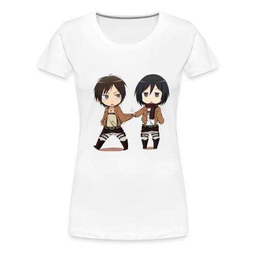 Attack on Titan Cute Chibli  Womens Premium T-shirt - Women's Premium T-Shirt