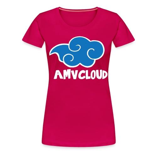 AmvCloud logo + Blue Cloud Women's T-shirt - Women's Premium T-Shirt