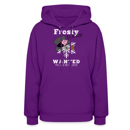 Women's Hoodie-Frosty The Kid - Women's Hoodie