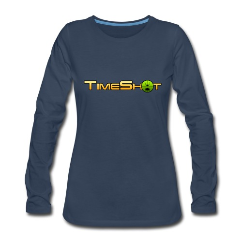 TimeShot Logo - Women's Premium Long Sleeve T-Shirt
