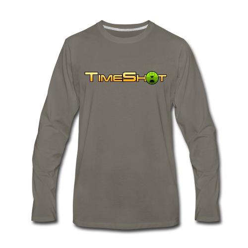 TimeShot Logo - Men's Premium Long Sleeve T-Shirt