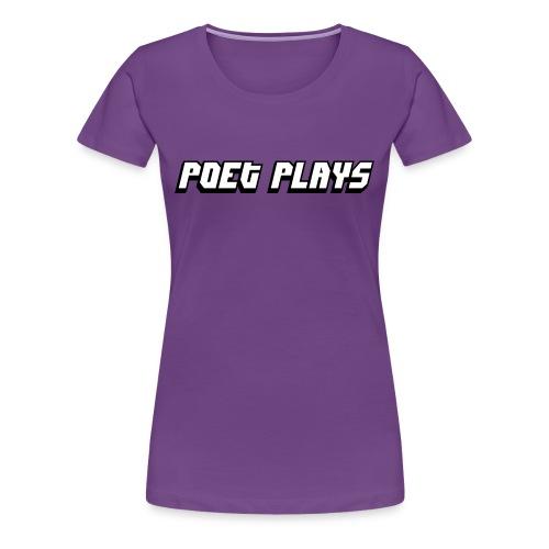 Poet Plays Logo - Women's Premium T-Shirt