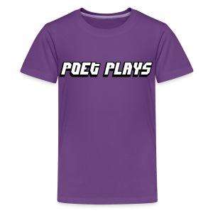 Poet Plays Logo - Kids' Premium T-Shirt