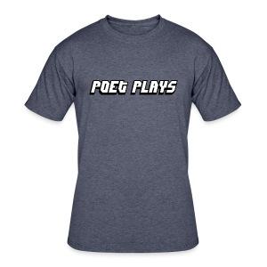 Poet Plays Logo - Men's 50/50 T-Shirt