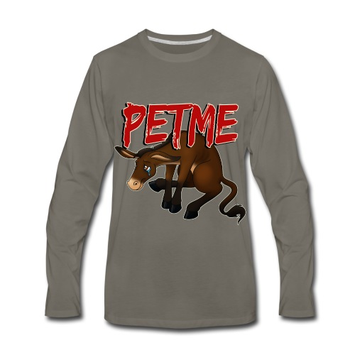 #PETME Sad Mule - Men's Premium Long Sleeve T-Shirt