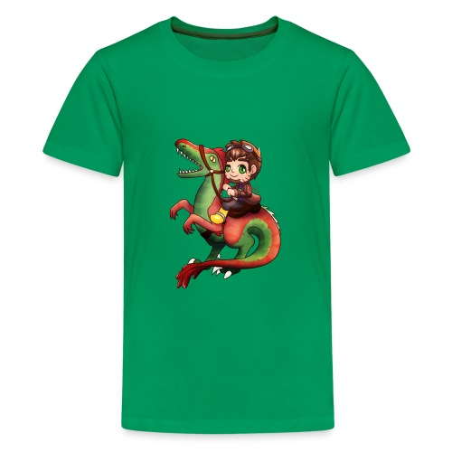 Raptor Riding - Kids' Premium T-Shirt