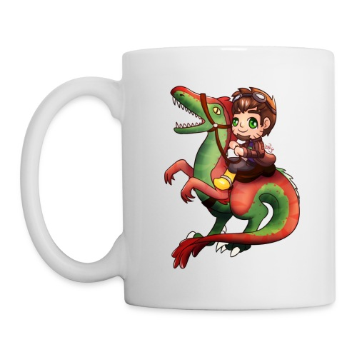 Raptor Riding White Mug - Coffee/Tea Mug