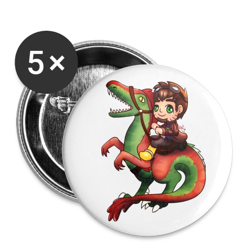 Raptor Riding Button - Small Buttons