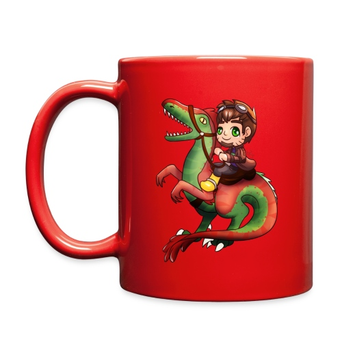 Raptor Riding Colored Mug - Full Color Mug