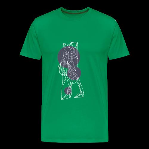 The Traveler - White/Steel Gray - Men's Premium T-Shirt